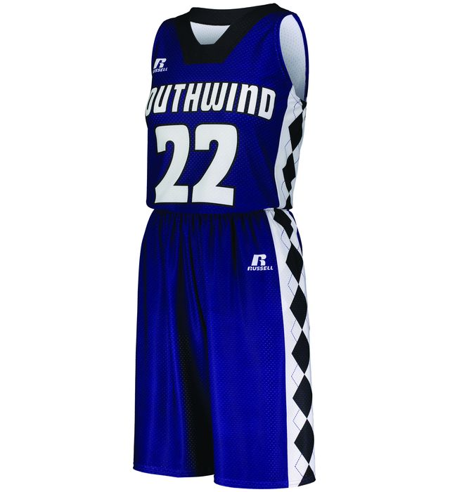 Ladies Freestyle Sublimated Dynaspeed Non-Reversible Basketball Shorts