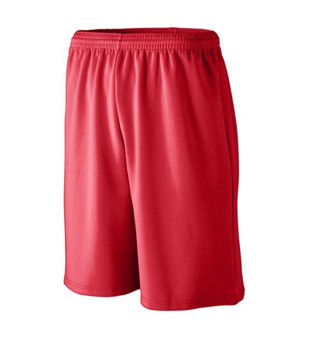 Longer Length Wicking Mesh Athletic Shorts