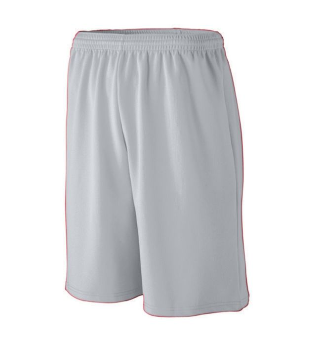 Youth Longer Length Wicking Mesh Athletic Shorts
