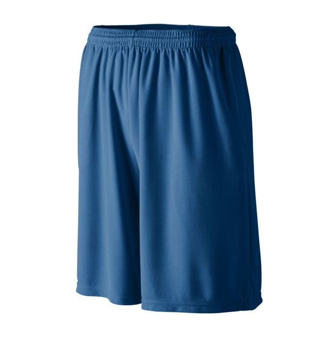 Youth Longer Length Wicking Shorts With Pockets
