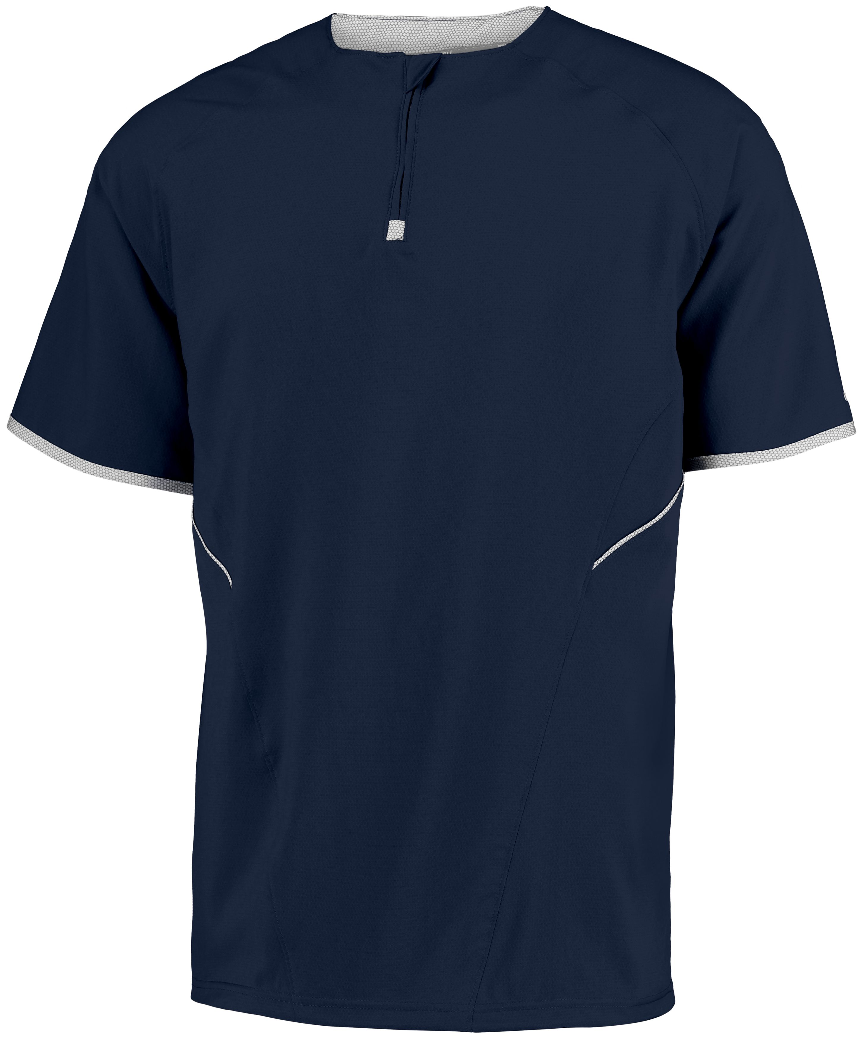 Youth Short Sleeve Pullover - Navy/white