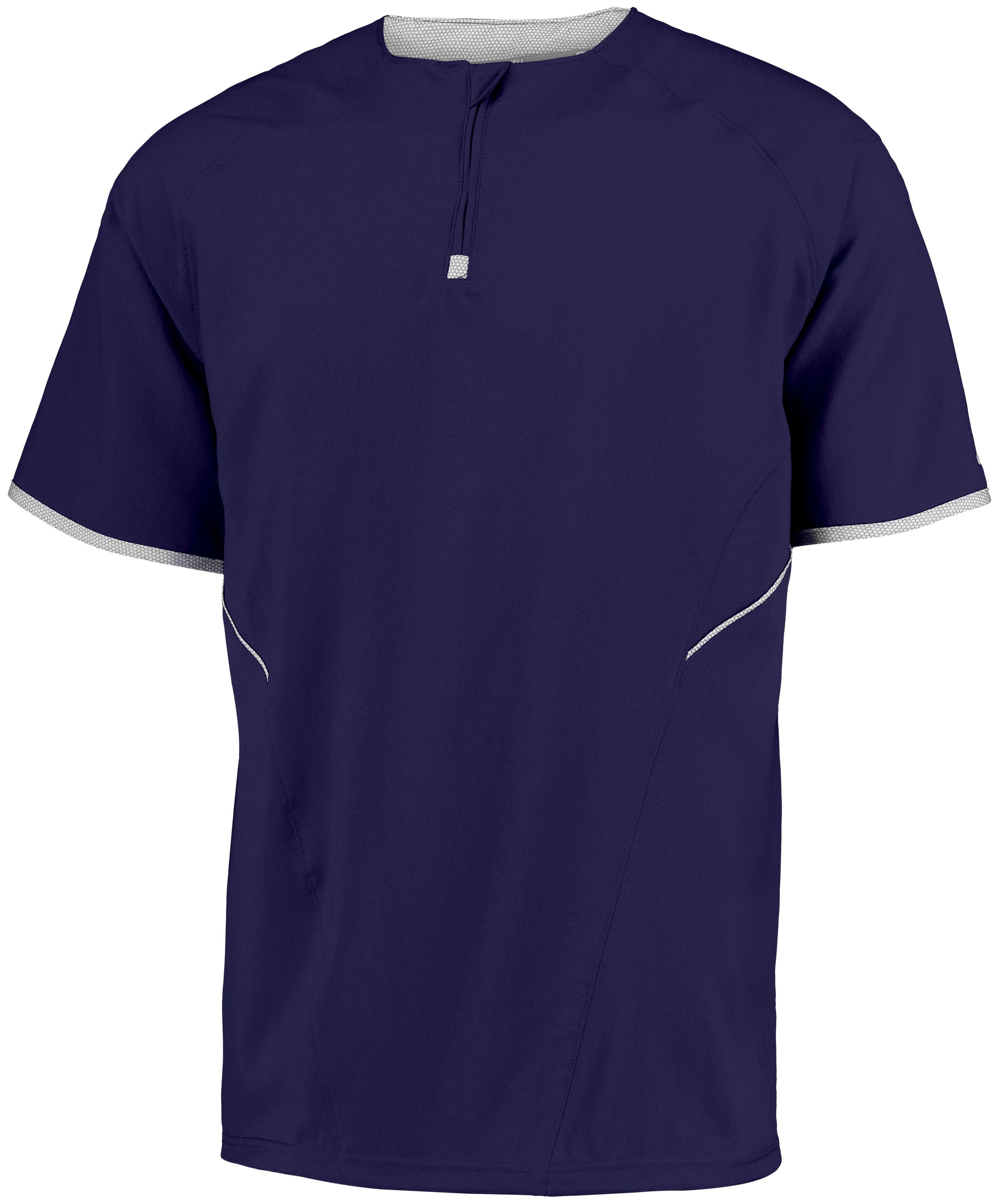 Short Sleeve Pullover - Purple/white