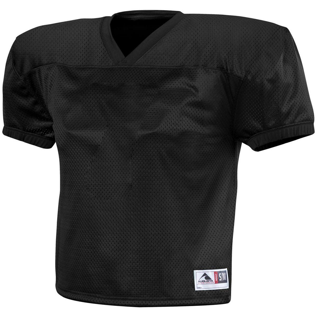 Ladies Augusta Sportswear Dash Short Sleeve Football Uni Practice Jersey Black