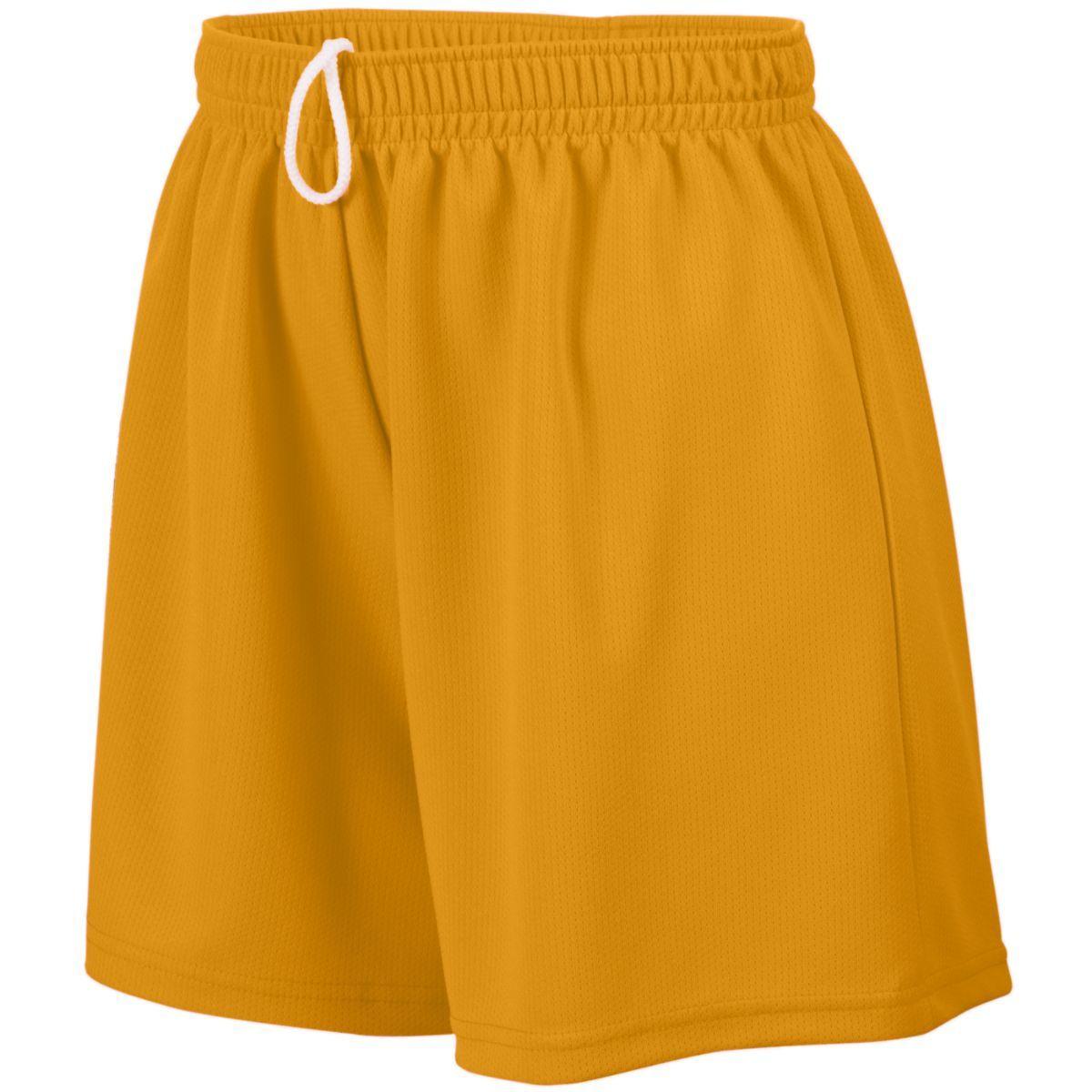 Ladies Wicking Mesh Shorts - GOLD