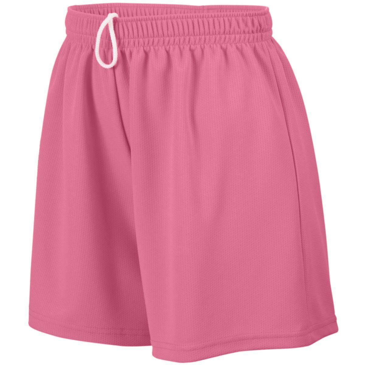 Girls Wicking Mesh Shorts - PINK