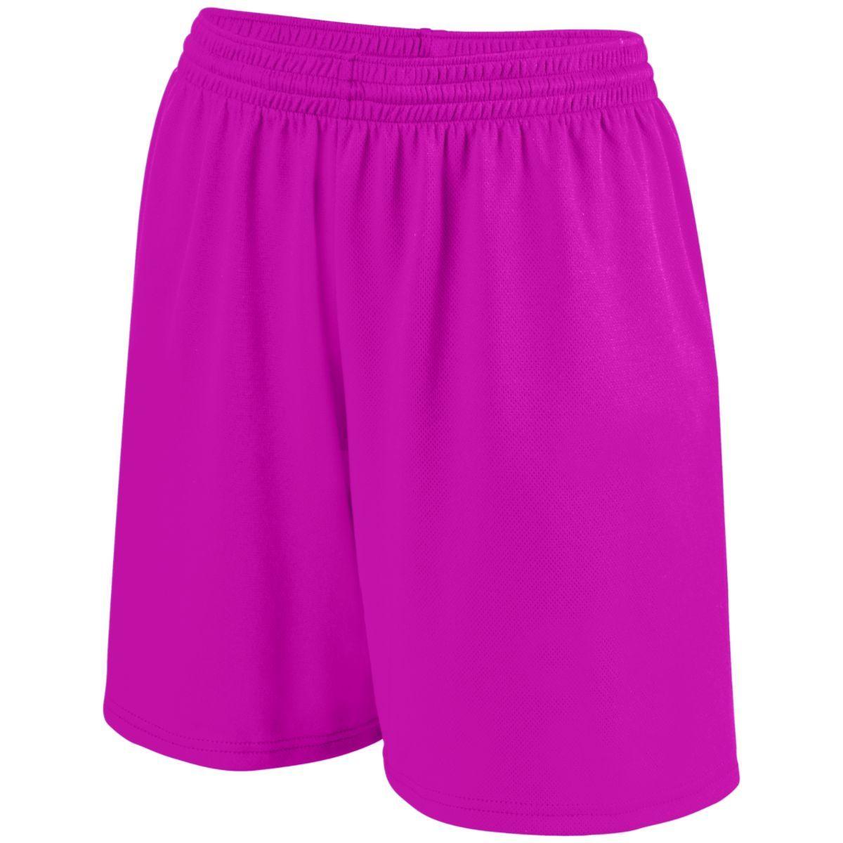 Girls Shockwave Shorts - POWER PINK/WHITE