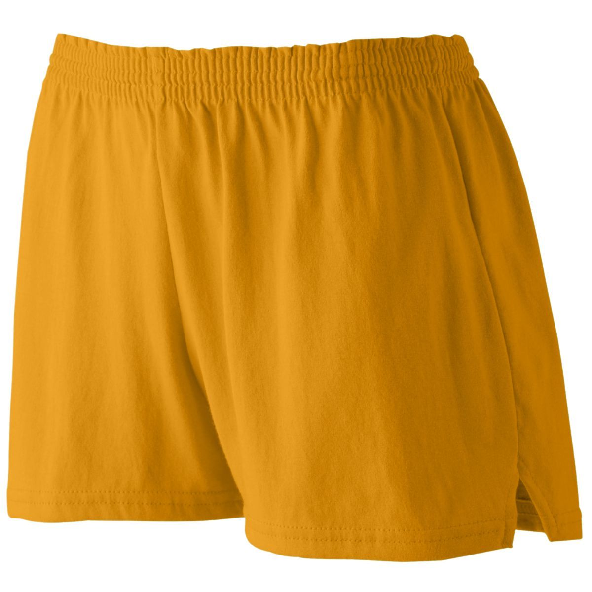 Ladies Junior Fit Jersey Shorts - GOLD