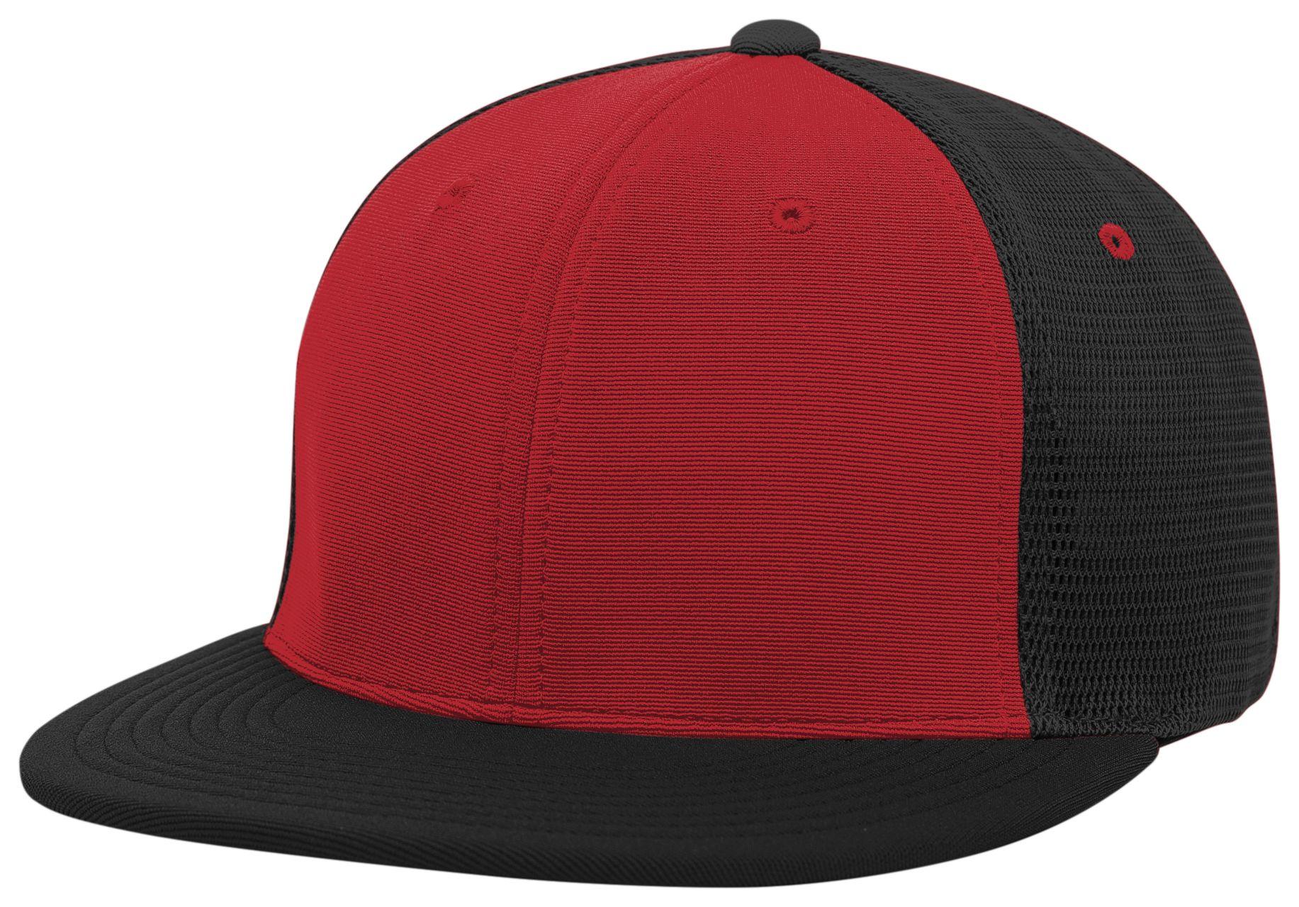 Premium M2 Performance Trucker Flexfit® Cap - RED/BLACK/BLACK