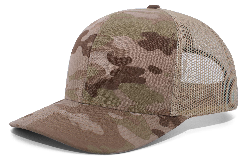 Multicamâ® Trucker Snapback Cap  - ARID/TAN