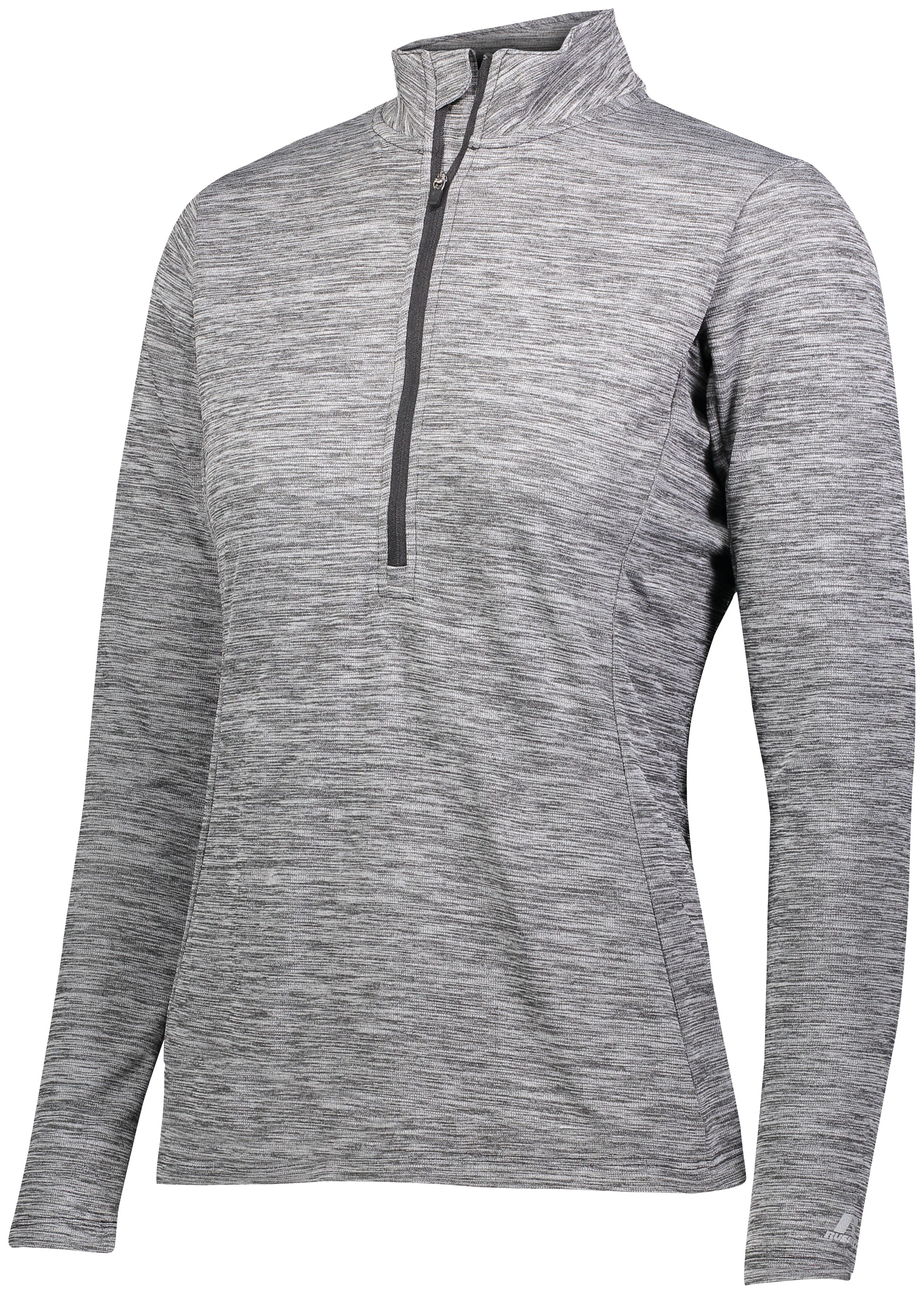 Ladies Dri-Power Lightweight 1/4 Zip Pullover - Black