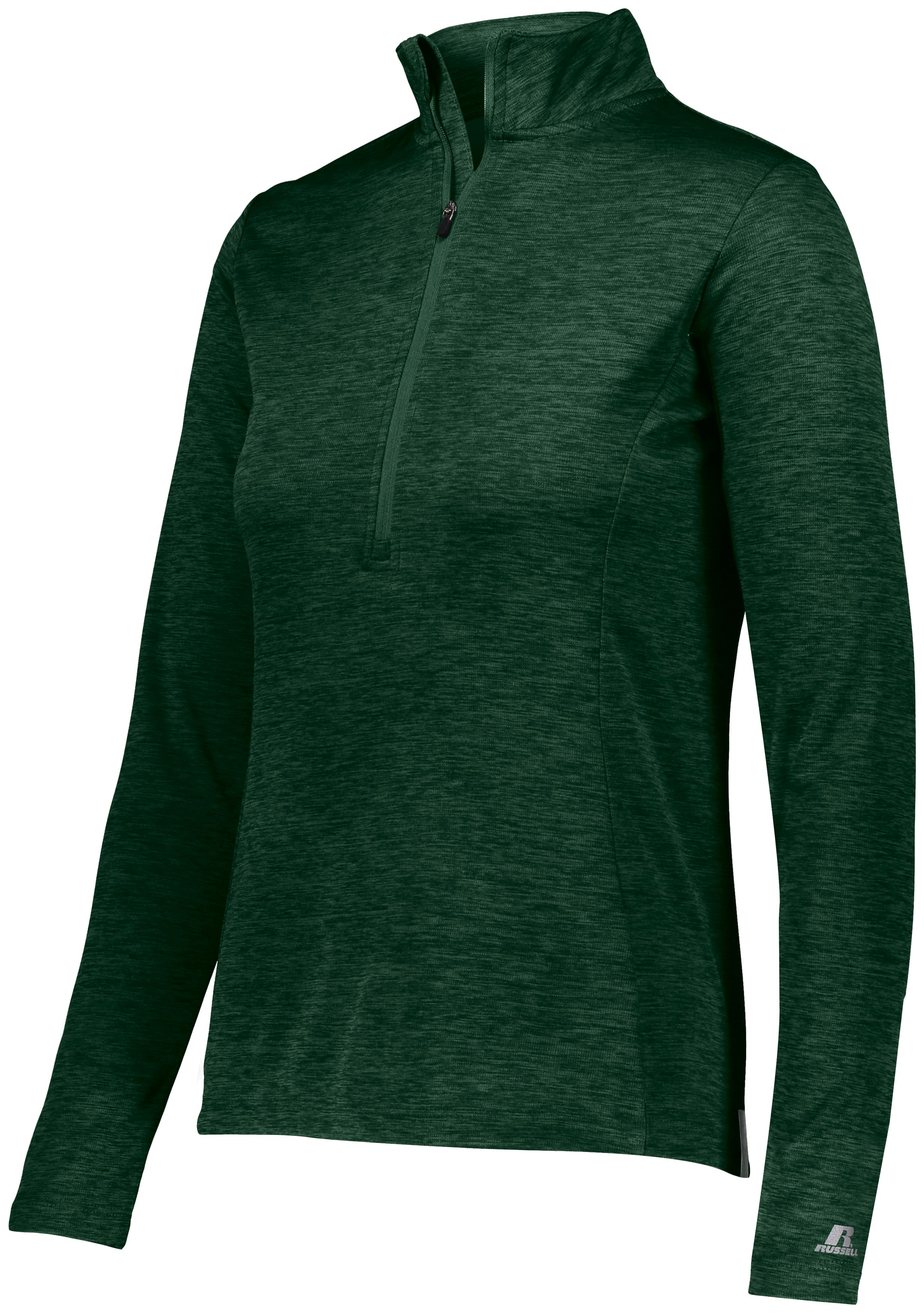 Ladies Dri-Power Lightweight 1/4 Zip Pullover - Dark Green