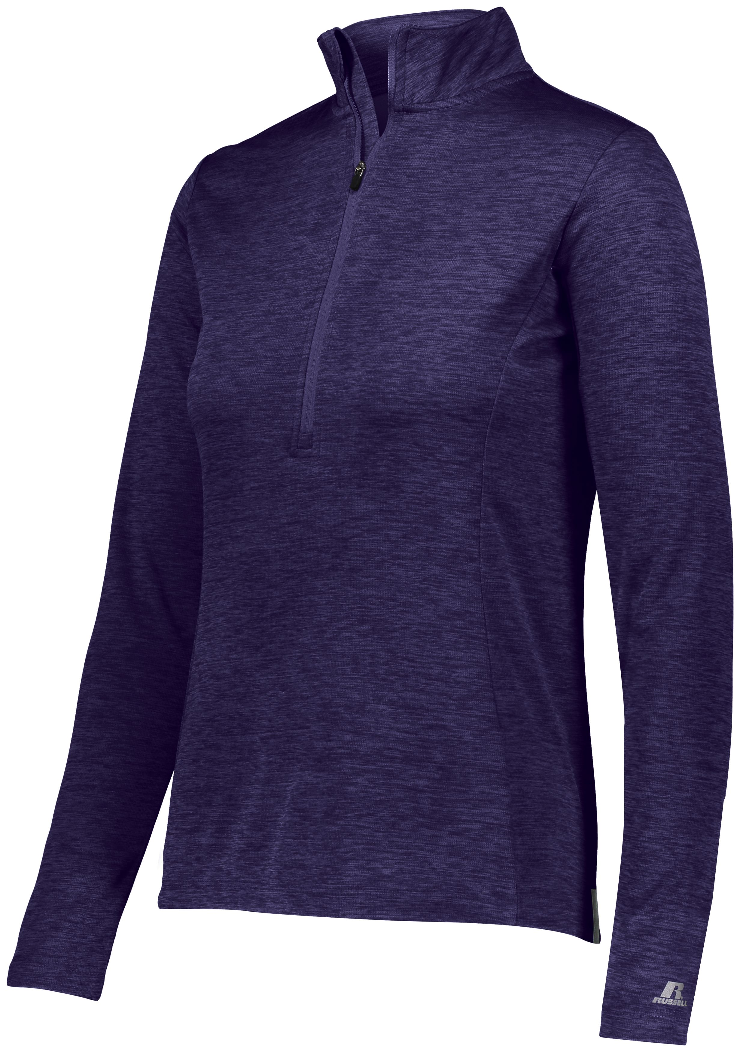 Ladies Dri-Power Lightweight 1/4 Zip Pullover - Purple