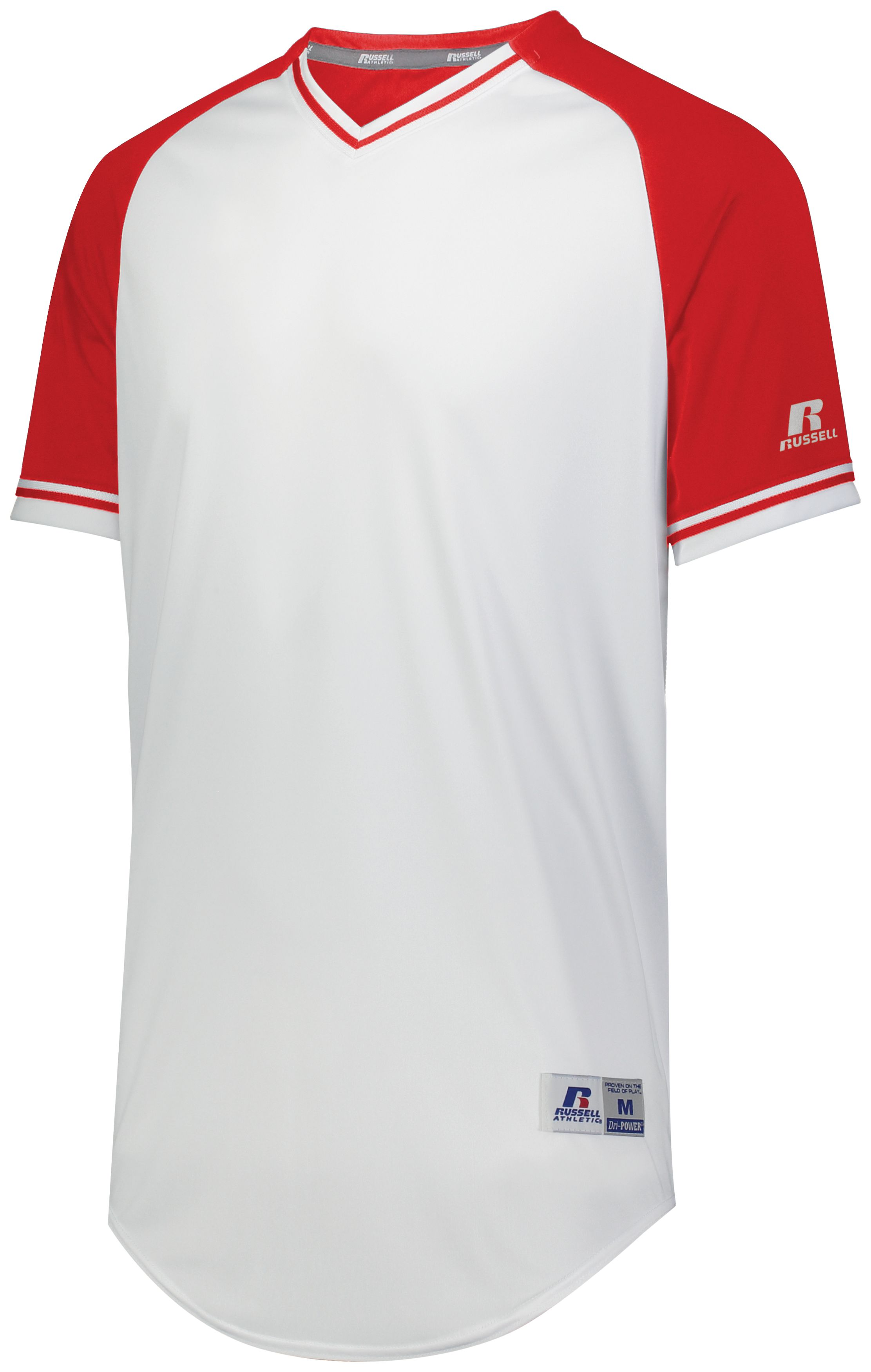 Classic V-Neck Jersey - White/true Red/white