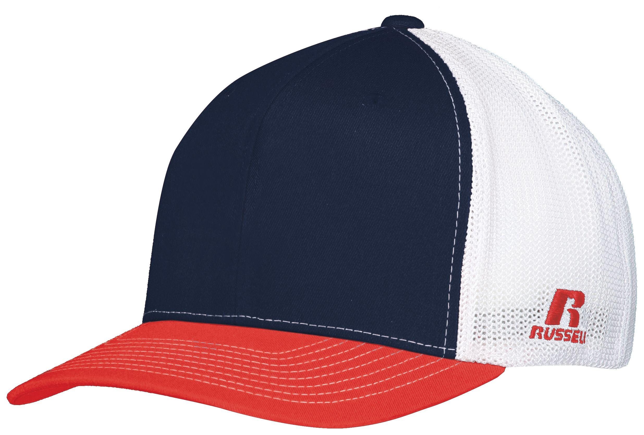 Youth Flexfit Twill Mesh Cap - NAVY/TRUE RED/WHITE