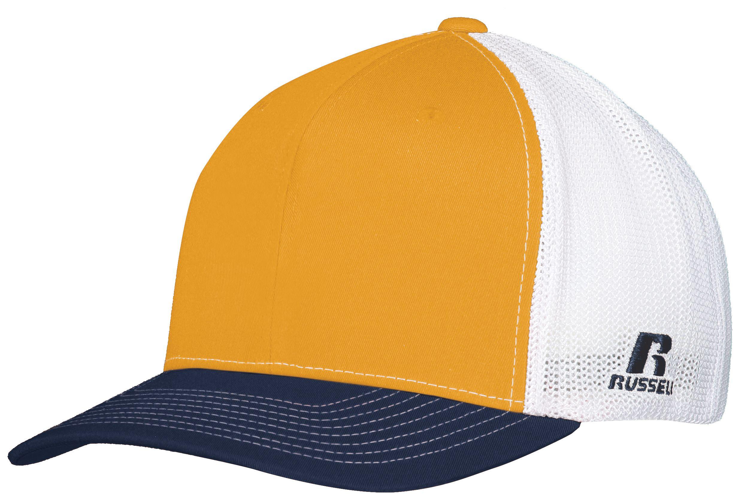 Flexfit Twill Mesh Cap - GOLD/NAVY/WHITE