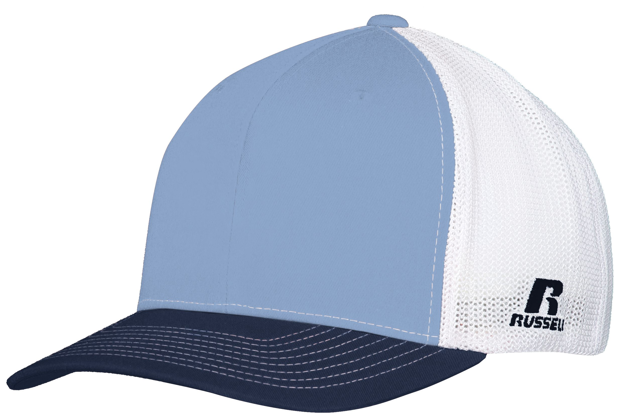 Youth Flexfit Twill Mesh Cap - COLUMBIA BLUE/NAVY/WHITE