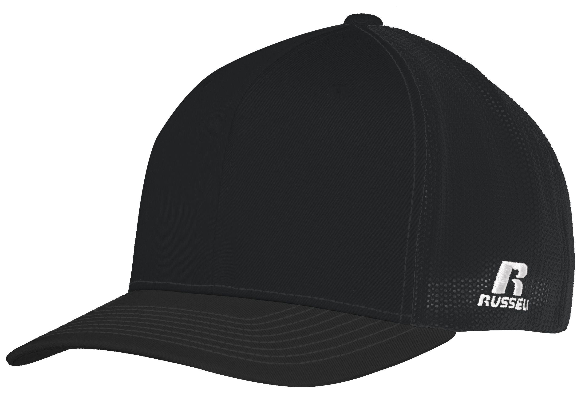 Youth Flexfit Twill Mesh Cap - BLACK