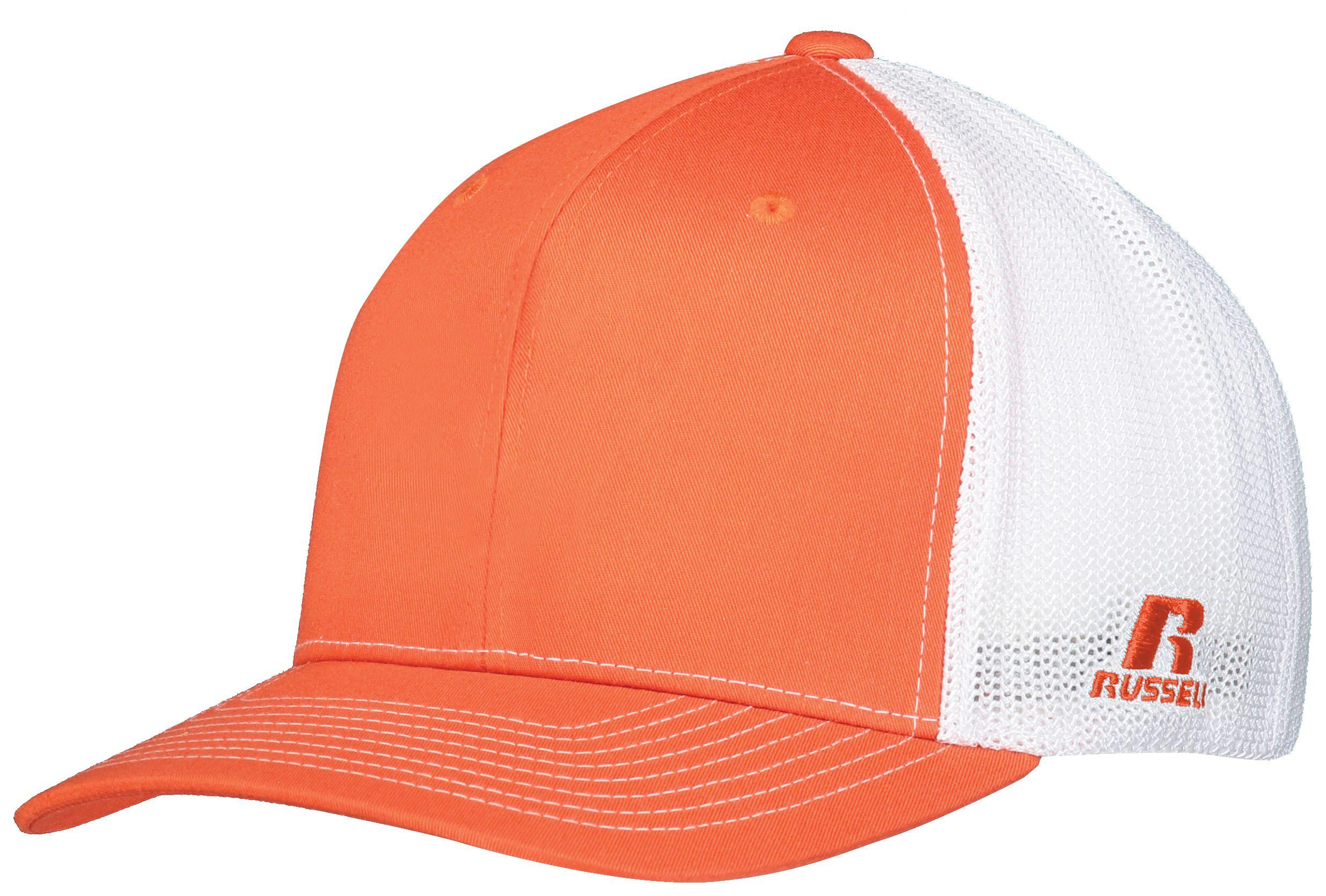 Youth Flexfit Twill Mesh Cap - Burnt Orange/white