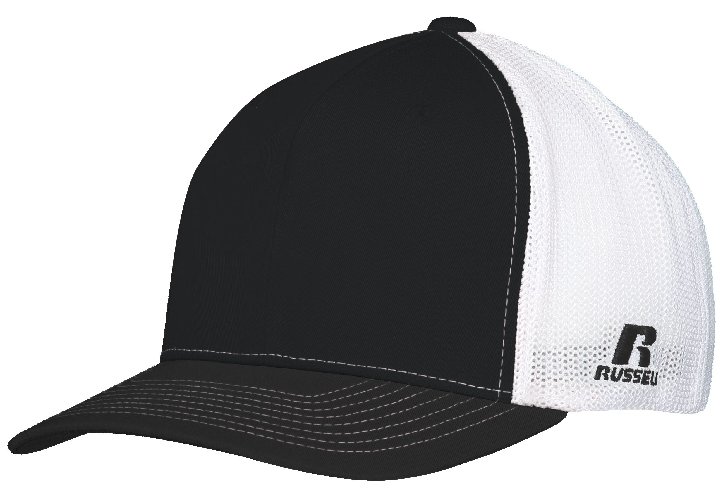 Youth Flexfit Twill Mesh Cap - BLACK/WHITE
