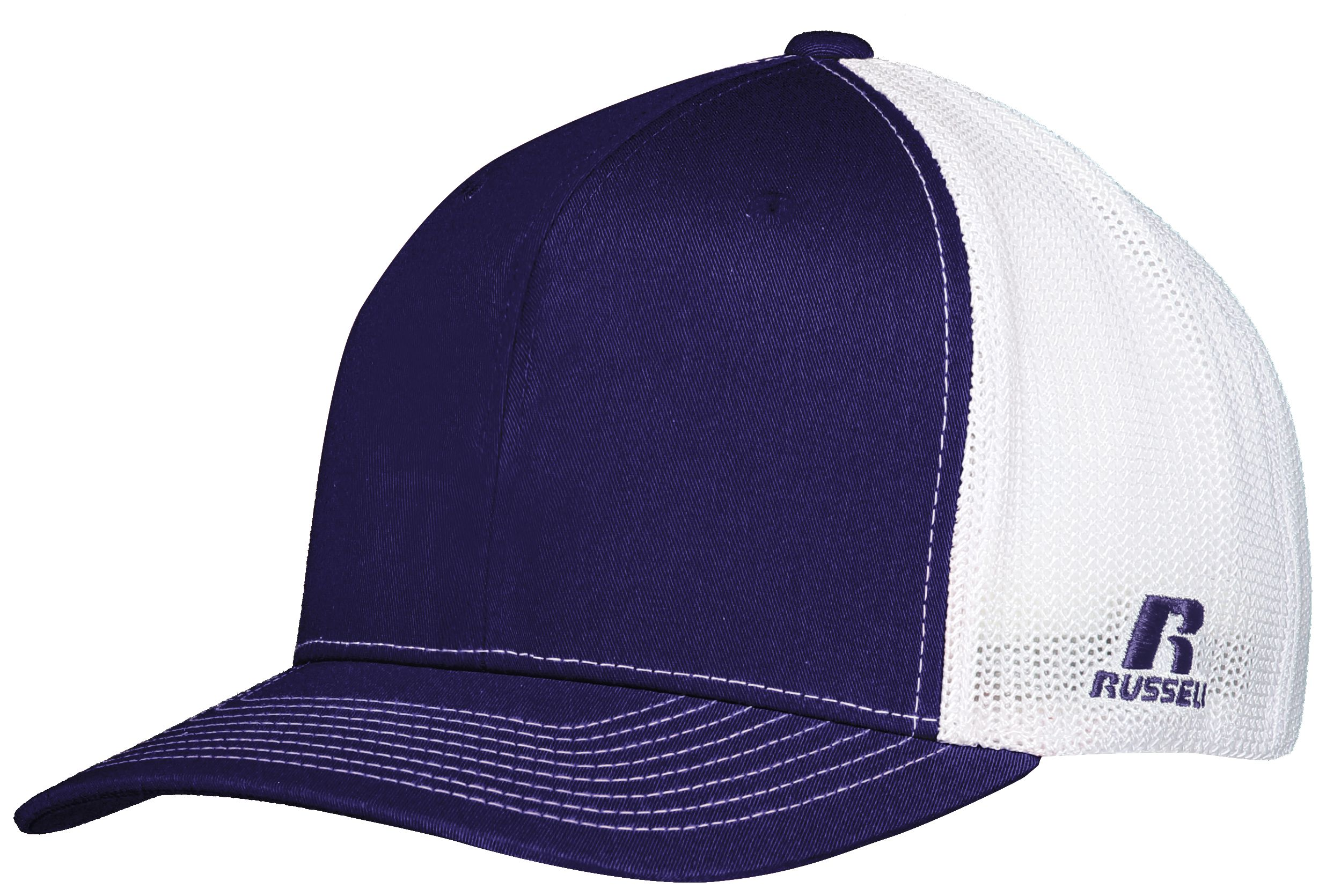 Youth Flexfit Twill Mesh Cap - Purple/white