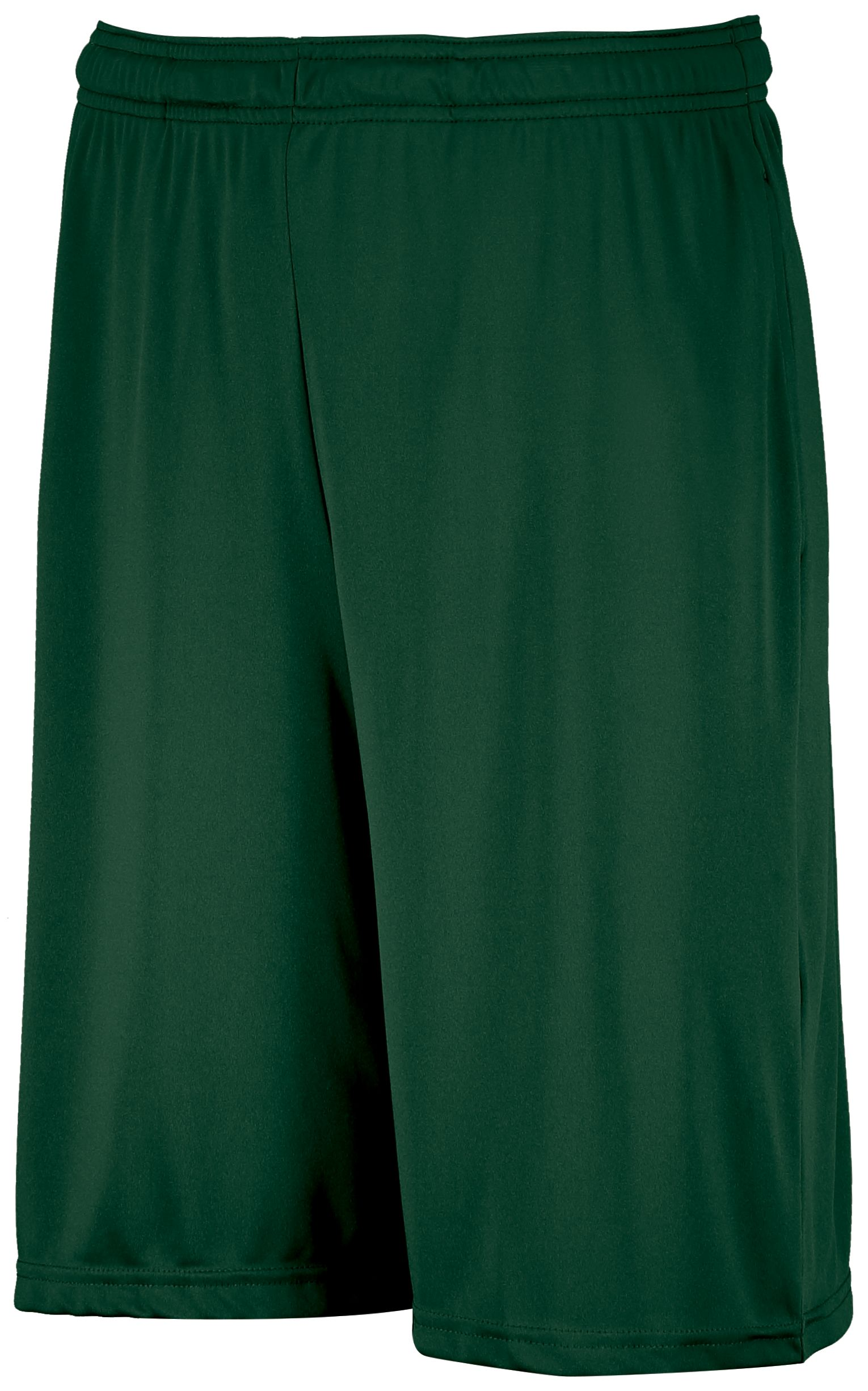 Dri-Power® Essential Performance Shorts With Pockets  - Dark Green