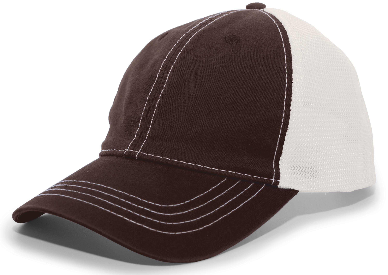 Vintage Trucker Snapback Cap - BROWN/IVORY/BROWN