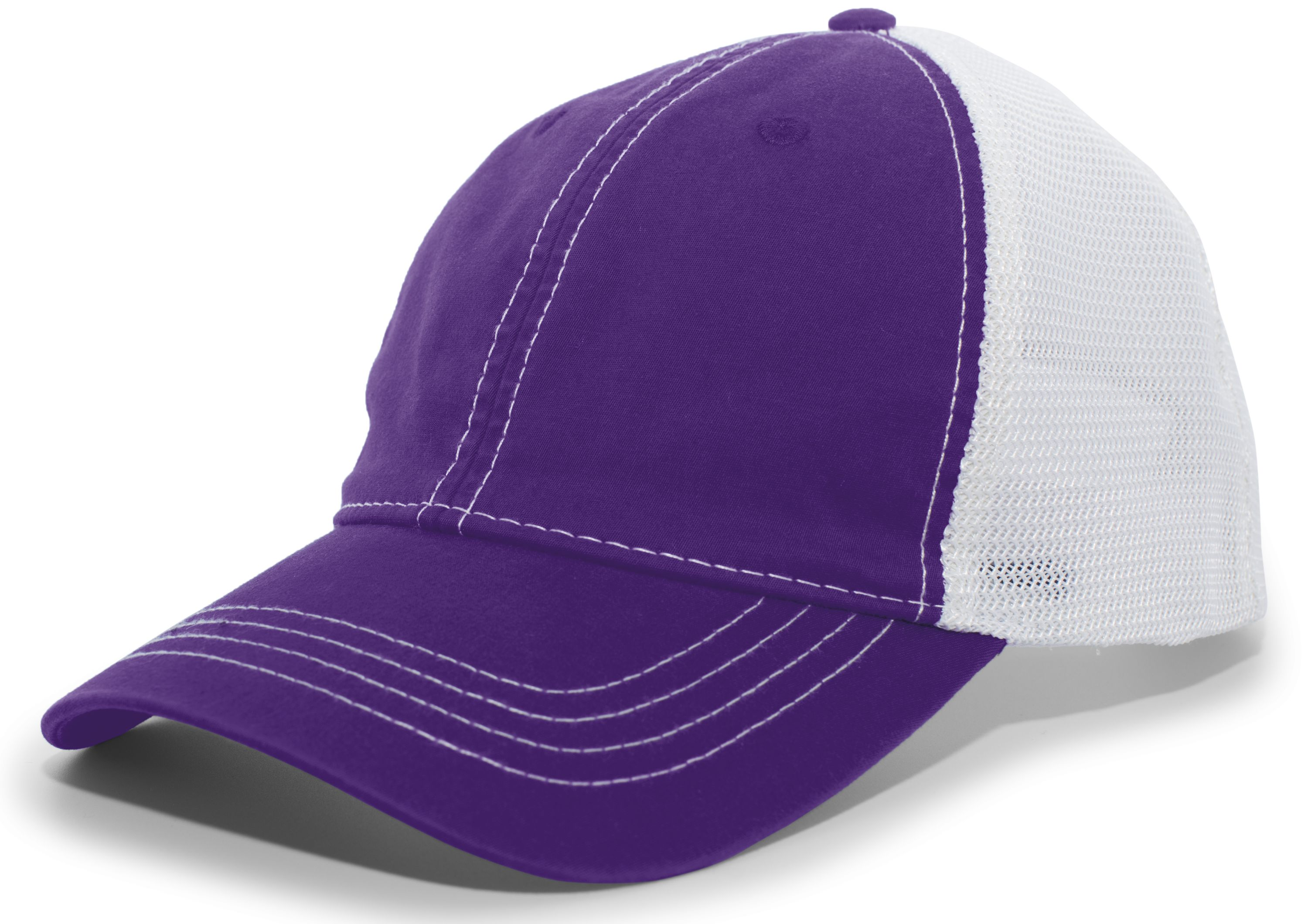 Vintage Trucker Snapback Cap - PURPLE/WHITE/PURPLE